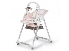 KINDERKRAFT Židlička jídelní Lastree Pink