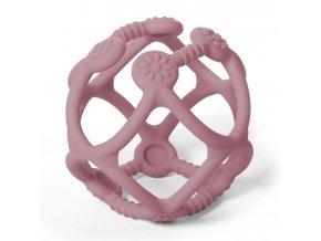 BABYONO Kousátko silikonové Ortho míček 0 m+ pink