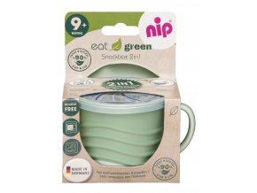 NIP GREEN line snackbox 2v1, 1ks, green
