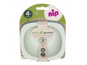 NIP GREEN line miska, 2ks, green/light green