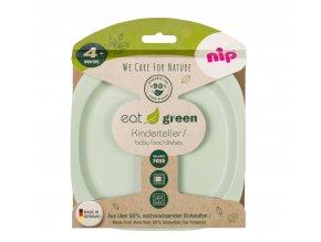 NIP GREEN line talířek, 2ks, green/light green