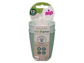 NIP GREEN line kalíšek, 2ks, green/light green