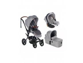 JANÉ Kočárek kombinovaný Crosswalk R+ Micro + Koos i-size R1 Dim grey