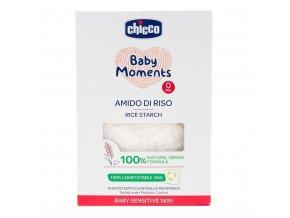 CHICCO Škrob dětský rýžový do koupele zklidňující Baby Moments Sensitive 100 % přírodního původu 250