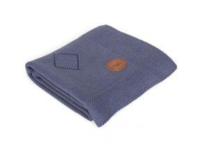 CEBA Deka pletená v dárkovém balení 90 x 90 granátové rozety