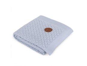 CEBA Deka pletená v dárkovém balení 90 x 90 modré vlny