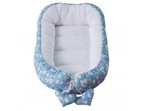 Hnízdo pro miminko Puer Animals Blue