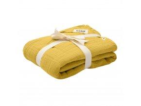 BIBS mušelínová zavinovačka z BIO bavlny Mustard