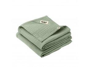 BIBS mušelínové plienky z BIO bavlny 2ks Sage