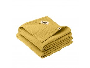 BIBS mušelínové plienky z BIO bavlny 2ks Mustard