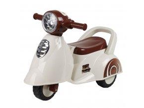 Dětské odrážedlo motorka se zvukem Baby Mix Scooter bílé