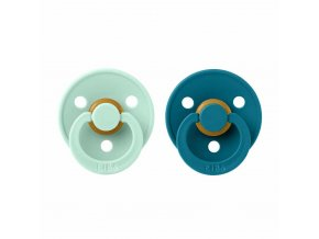 BIBS Colour cumlíky z prírodného kaučuku 2ks - veľkosť 1 Nordic Mint / Forest Lake