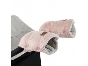 PETITE&MARS Rukávník / rukavice Jasie na kočárek Flamingo Pink