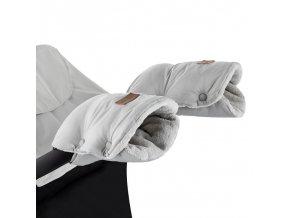 PETITE&MARS Rukávník / rukavice Jasie na kočárek Steel Grey