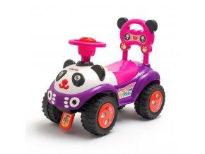 Dětské odrážedlo se zvukem Baby Mix Panda růžové