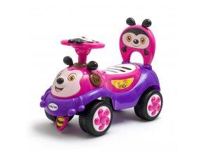Dětské odrážedlo se zvukem Baby Mix Happy Bee růžové