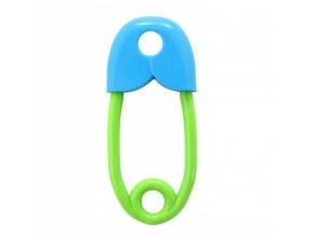 Chrastítko špendlík Rappa modro-zelené