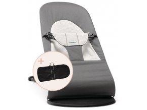 Lehátko Babybjorn Balance Soft Dark Grey/Grey jersey + transportní taška
