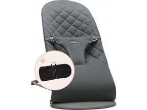 Lehátko Babybjorn Balance Bliss Anthracite cotton + transportní taška