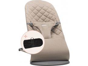 Lehátko Babybjorn Balance Bliss Sand grey cotton + transportní taška