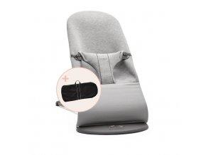 Lehátko Babybjorn Balance Bliss Light grey 3D Jersey + transportní taška