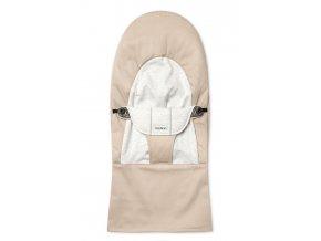 Potah na lehátko Soft Beige/Grey cotton Jersey