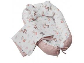 EKO Sada pro miminko 3-dílná bavlněná Fawns