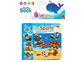 knížka do koupele sportovní zvířátka
