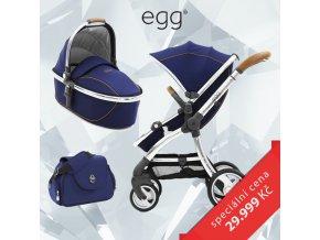 BabyStyle EGG set Regal Navy/Mirror rám 2020, kočárek + hluboká korba + taška + adaptéry
