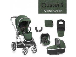 BabyStyle Oyster 3 luxusní set 6 v 1 - Alpine Green 2021