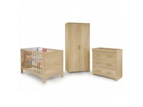 BabyStyle Monaco dětský pokoj (set: postýlka, komoda, skříň)