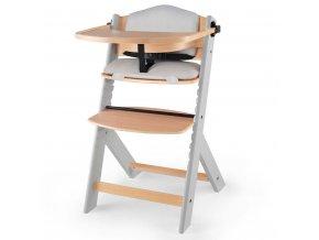 KINDERKRAFT Židlička jídelní Enock s polstrováním Grey wooden