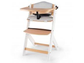 KINDERKRAFT Židlička jídelní Enock s polstrováním White wooden