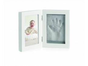 JANÉ Dvojrámeček fotka + otisk ruky / nohy White