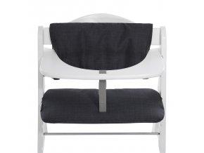 Hauck Polstrování Deluxe k židli Alpha+, Melange charcoal