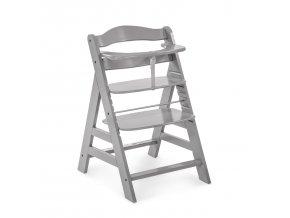 Hauck Alpha+  dřevená židle, grey