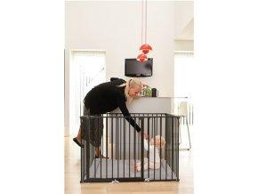 Baby Dan Babydan dětská ohrádka Supreme OLAF Rectangle černá s matrací 90cm -