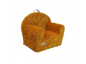 KLUPS Křesílko Velvet honey yellow 50x35x45 cm