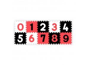 BABYONO Pěnové puzzle číslice 10 ks, 6 m+