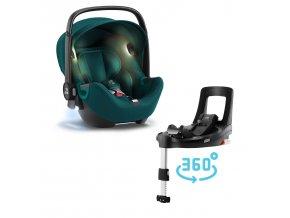 Autosedačka Baby-Safe iSense Bundle Flex iSense, Atlantic Green