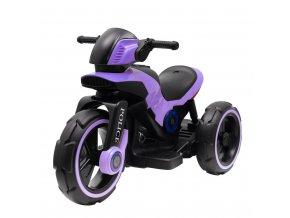 Dětská elektrická motorka Baby Mix POLICE fialová