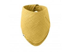 BIBS Bandana mušelínový slintáčik z BIO bavlny Mustard