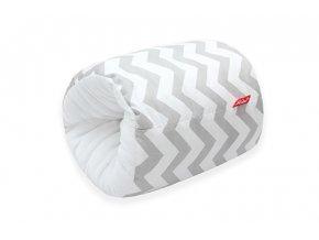 Scamp kojící rukávník, zigzag grey white