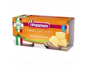 PLASMON Příkrm bezlepkový sýrový 2x80 g, 4m+