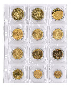 Albové listy - mince