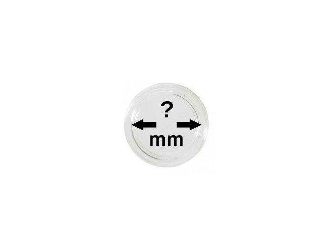 Kapsle na mince - jednotlivě