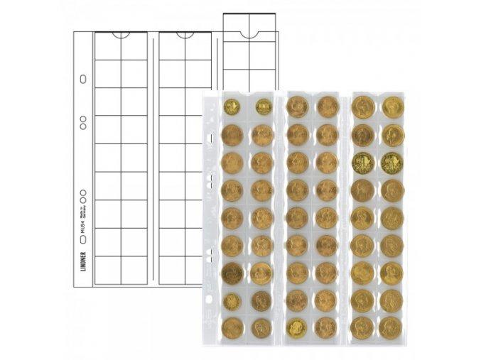 Listy na mince - pro 54 mincí o průměru 20mm