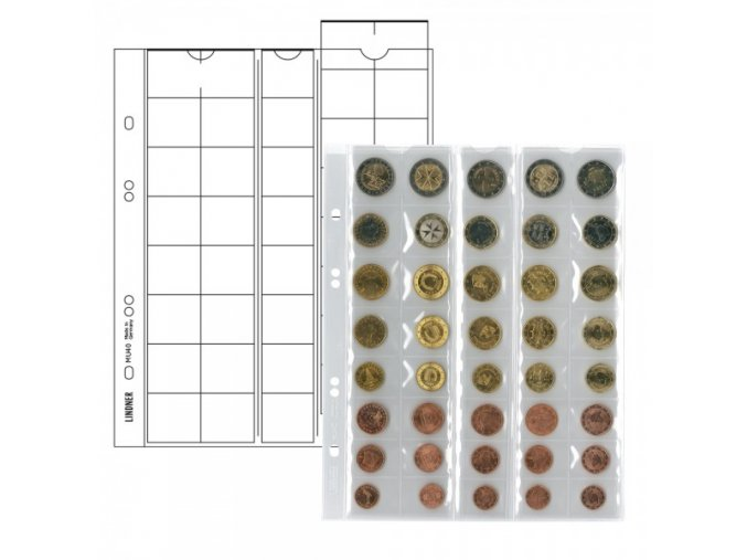 Listy na mince - pro sady 5 Euro