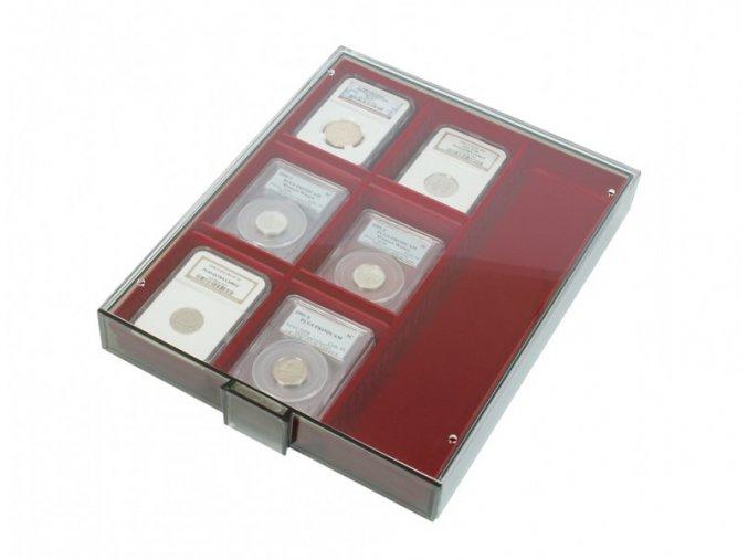 Sběratelská kazeta na nálezy Smoked Glass - 3 přihrádky 2463