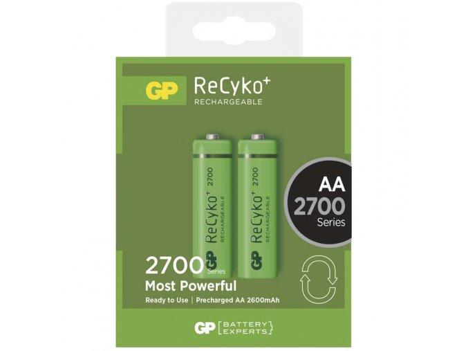 Nabíjecí baterie GP ReCyko+ 2700 HR6 (AA), 2ks krabička